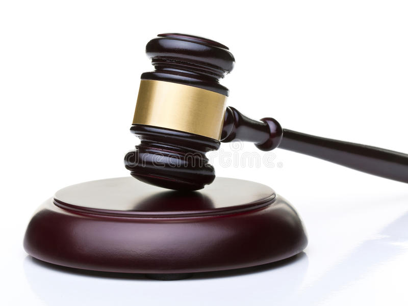 Деревянный молоток судьи стоковая фотография