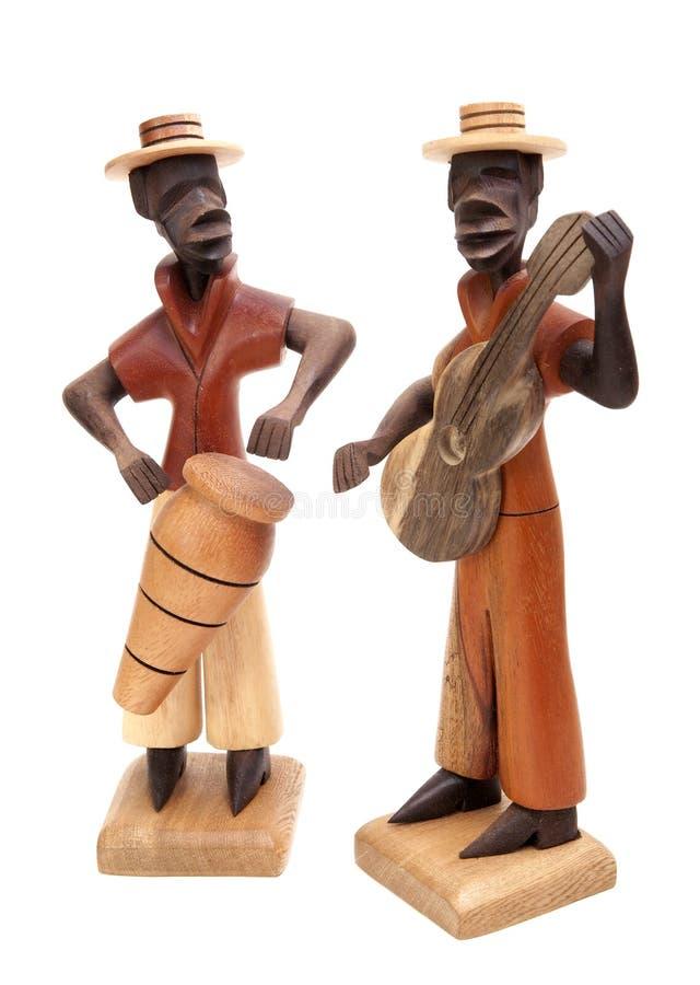 Деревянный музыкант стоковое фото
