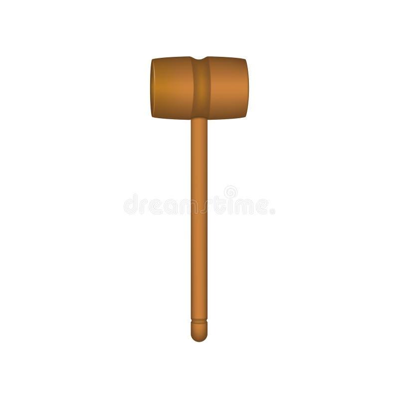 Деревянный мушкел в коричневом дизайне иллюстрация штока