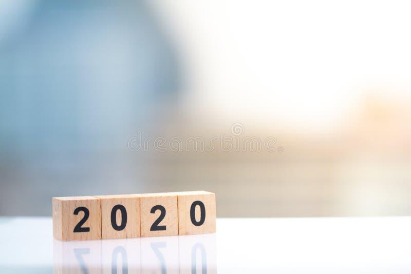 Деревянный номер блока года 2020 стоковые изображения