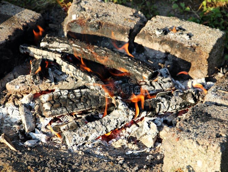 Деревянный огонь /campfire/камин стоковые изображения rf