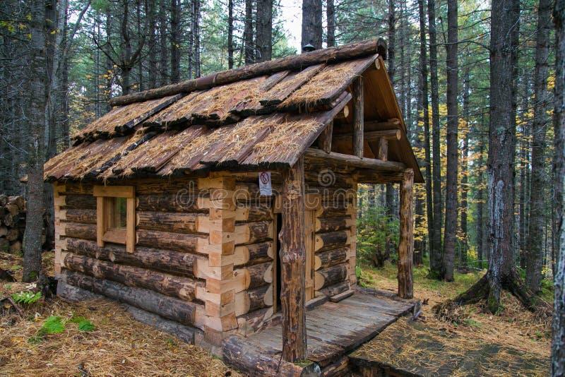 Деревянный охотник дома стоковое фото rf