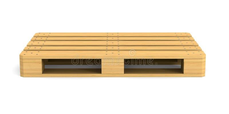 Деревянный паллет на белой предпосылке Изолированная иллюстрация 3d иллюстрация вектора