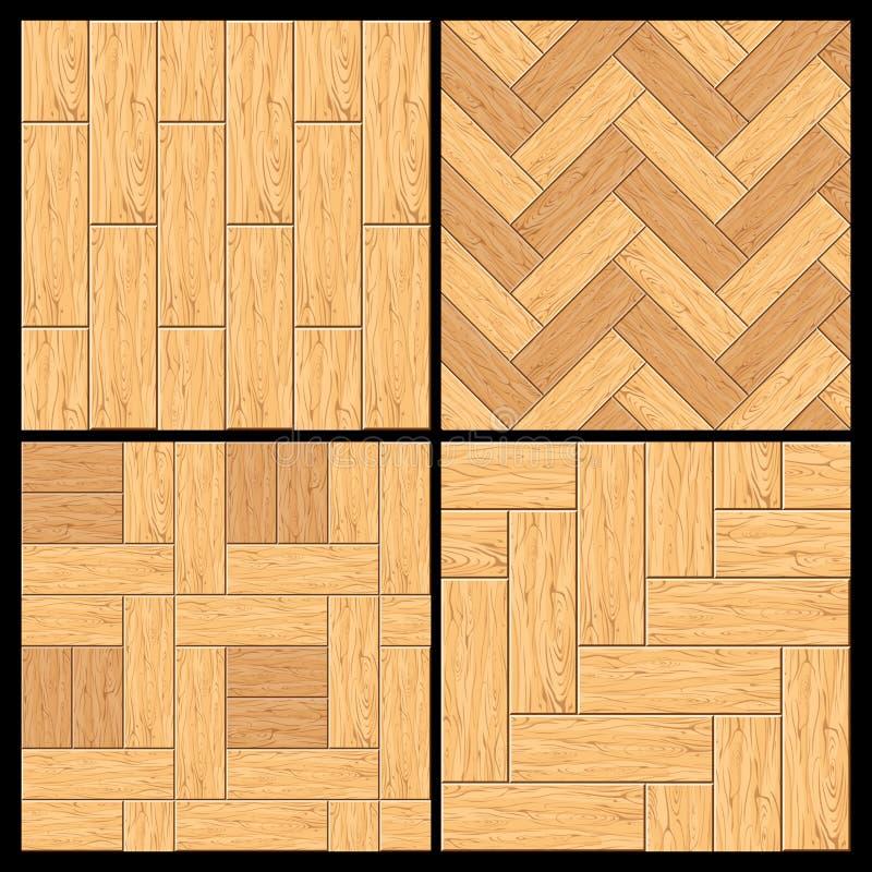 Деревянный партер, картина вектора настила твёрдой древесины иллюстрация вектора