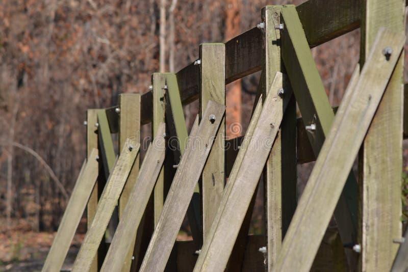 Деревянный пешеходный мост стоковое фото rf
