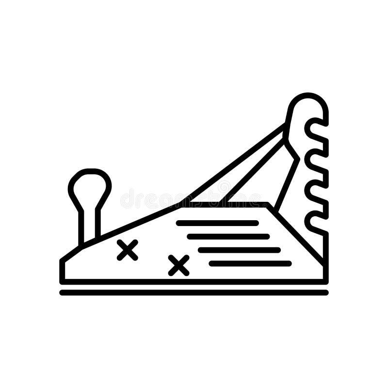 Деревянный плоские знак и символ вектора значка изолированные на белой предпосылке, деревянной плоской концепции логотипа бесплатная иллюстрация