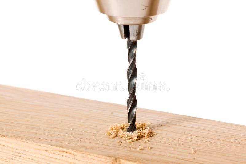 Деревянный сверлить стоковое изображение rf