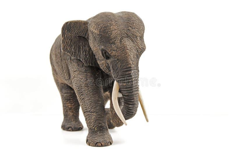 Деревянный слон стоковая фотография rf