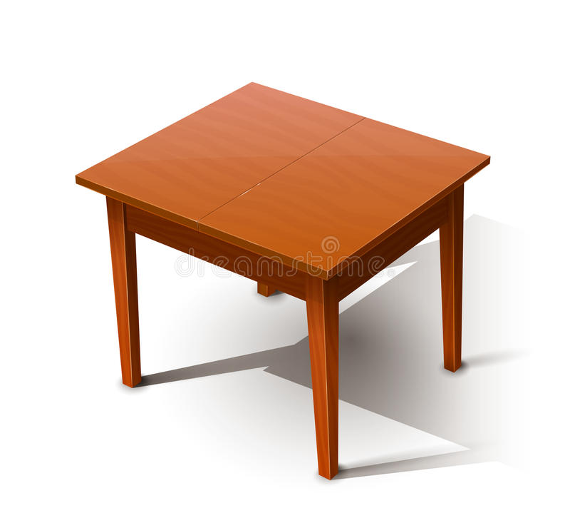 Деревянный стол иллюстрация штока