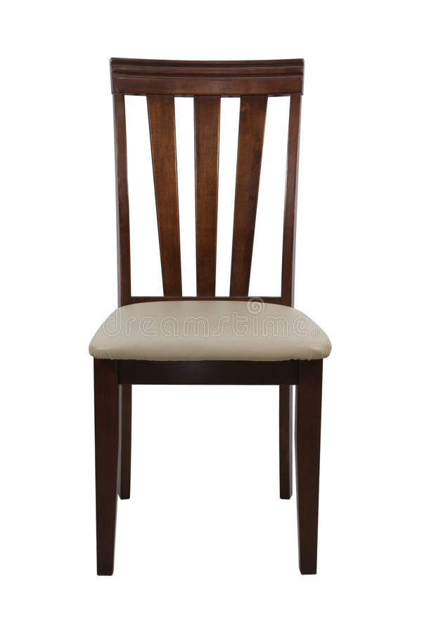 Деревянный стул изолированный на белой предпосылке стоковые фотографии rf