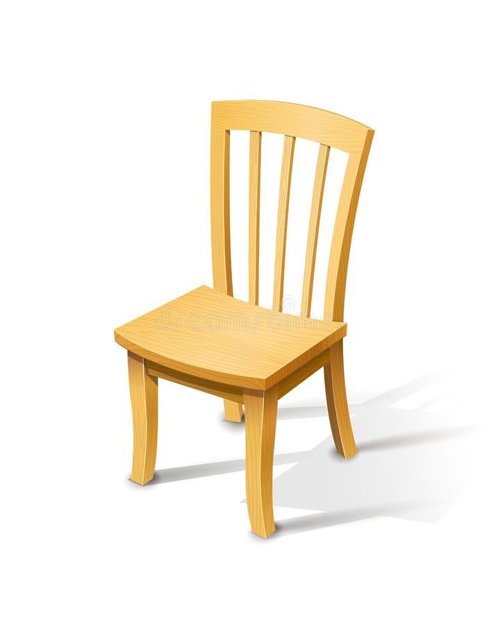 Деревянный стул иллюстрация штока