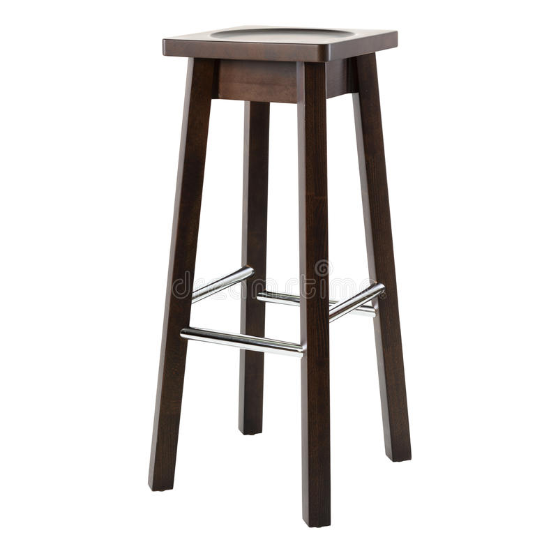 Деревянный удобный стул для паба изолированного на белой предпосылке стоковые изображения