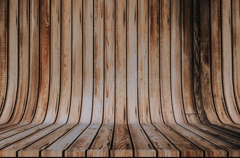 Деревянный фон циклорамы стоковая фотография