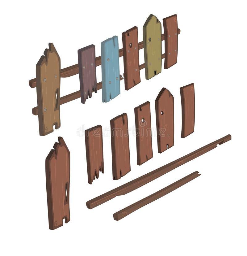 Download Деревянный шарж загородки иллюстрация вектора. иллюстрации насчитывающей панель - 41654018