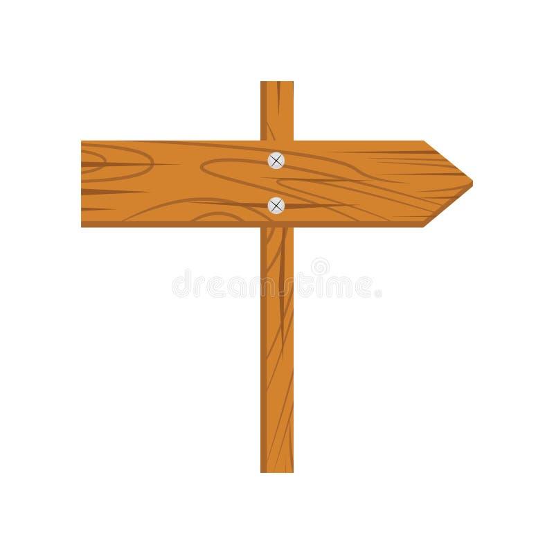 Деревянный шарж знака иллюстрация вектора