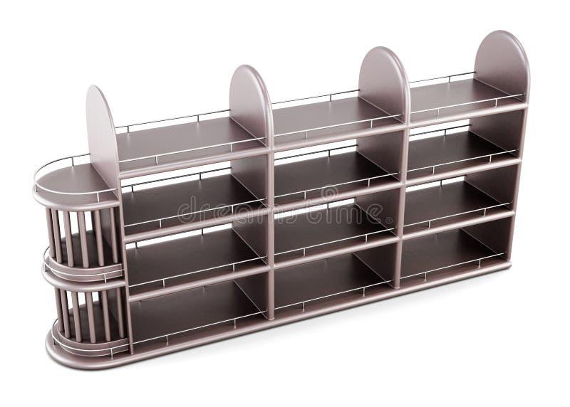 Деревянный шкаф алкогольных напитков изолированных на белой предпосылке иллюстрация вектора