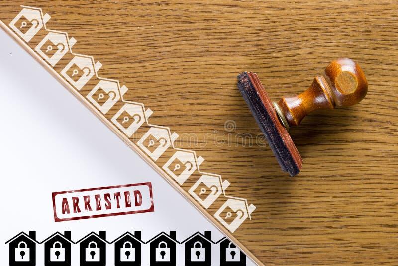 Деревянный штемпель для документов стоковое фото