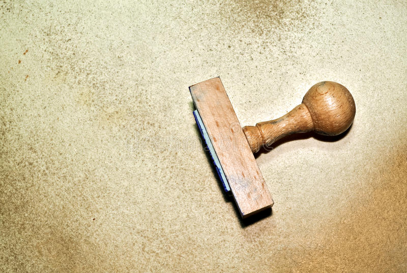 Деревянный штемпель стоковая фотография rf