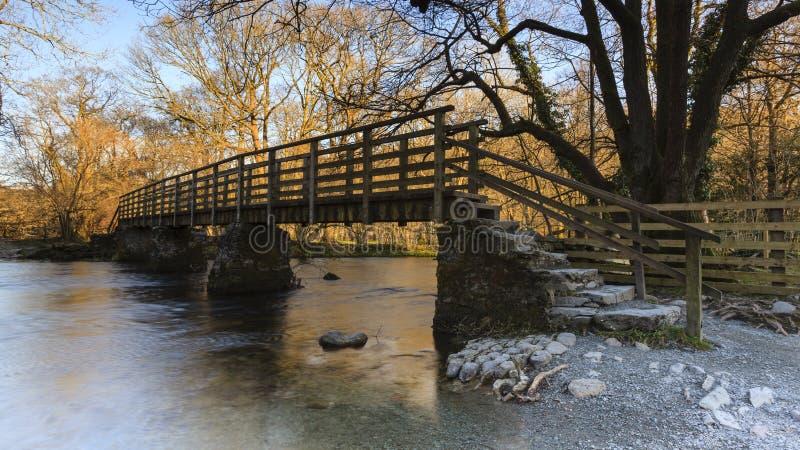 Деревянный Footbridge стоковое фото