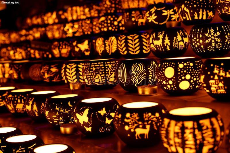 Держатели для свечи аранжированные для продажи стоковые фото