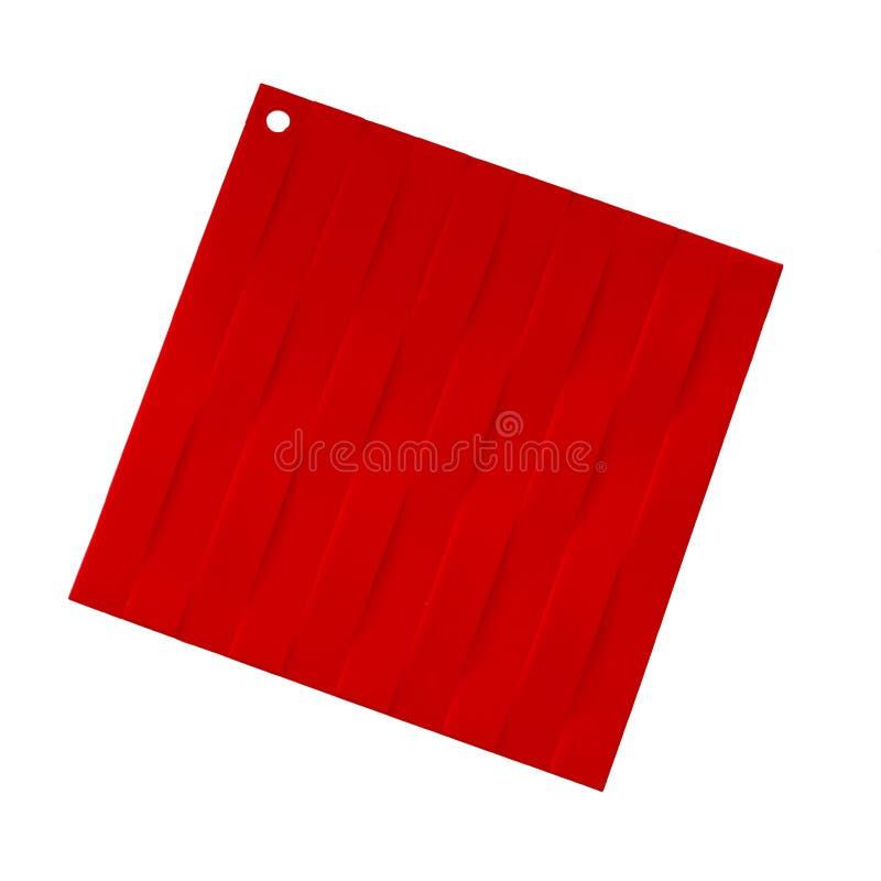 Держатель бака кремния, красный цвет, изолированный на белой предпосылке Современный kitchenware стоковые изображения rf