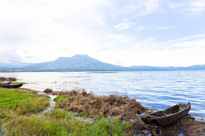 держатель озера Индонесии batur bali стоковое изображение