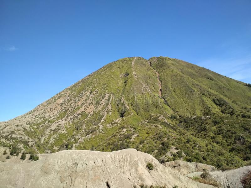 Держатель Bromo действующий вулкан стоковые фотографии rf