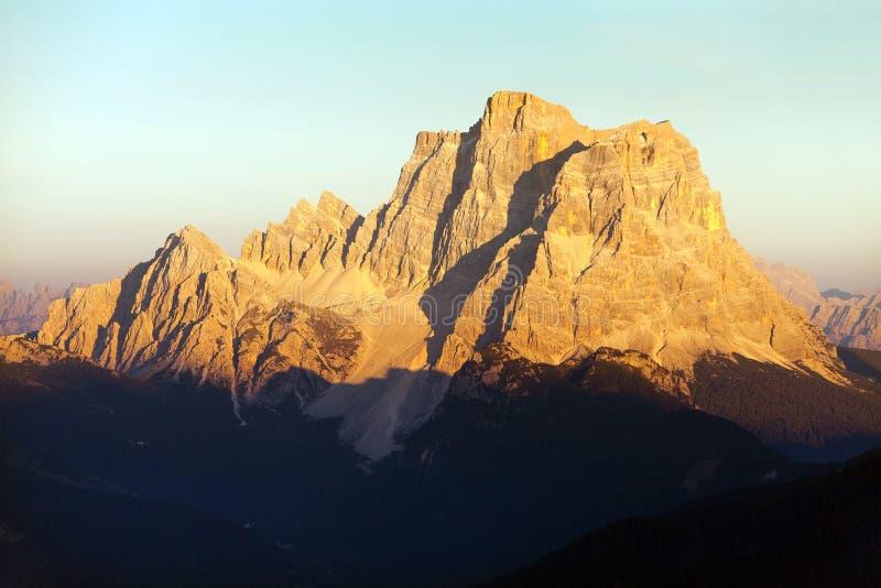 Держатель Pelmo, горы доломитов Альп, Италия стоковые изображения rf