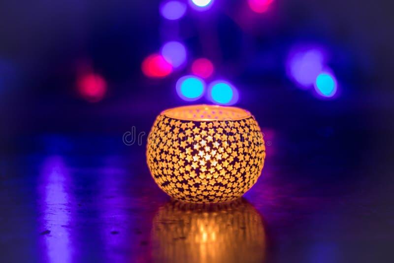 Держатель tealight diwali света свечи фестиваля огней стоковые фото