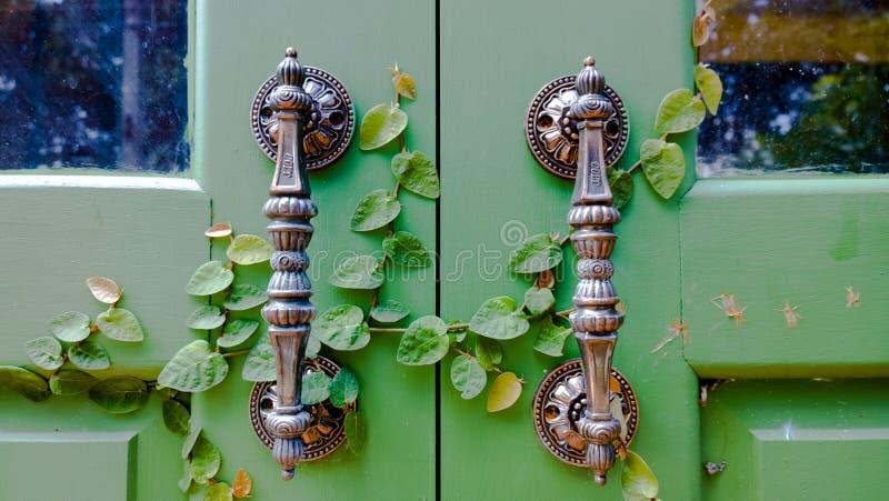 Держатели двери с природой стоковое фото