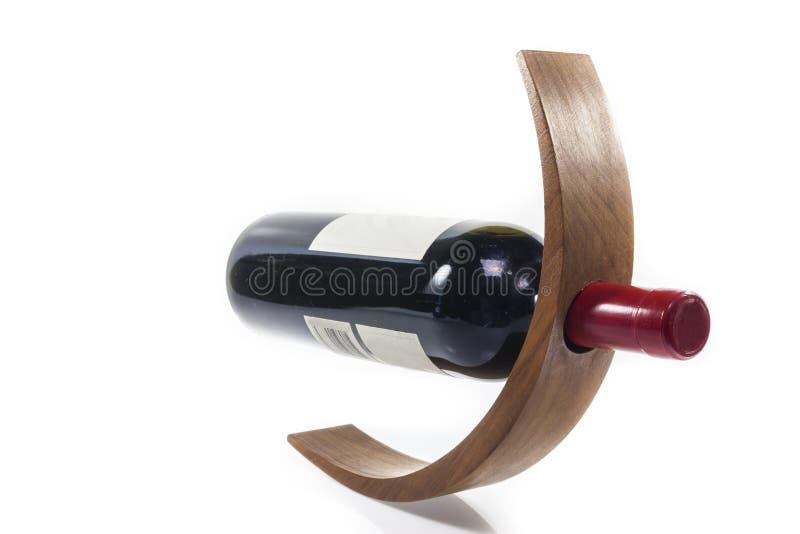 Держатель бутылки вина деревянный стоковые фото