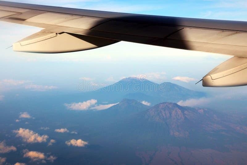Держатель Gunung Raung в East Java от самолета стоковое фото rf
