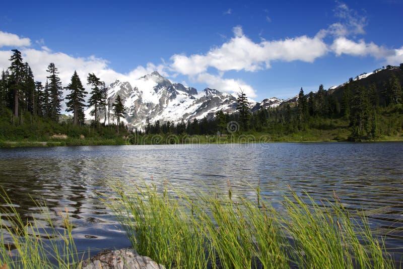 Держатель Shuksan и озеро изображени стоковые фото