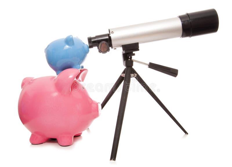 Держать глаз на ваших финансах стоковые изображения rf