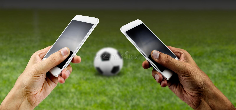 Держать пари в футболе стоковые изображения