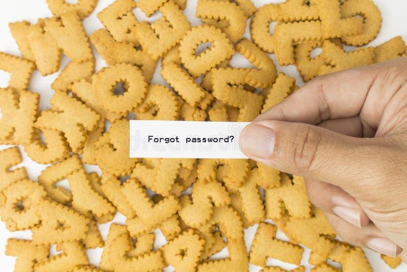 Держащ бумагу забыл пароль стоковая фотография rf