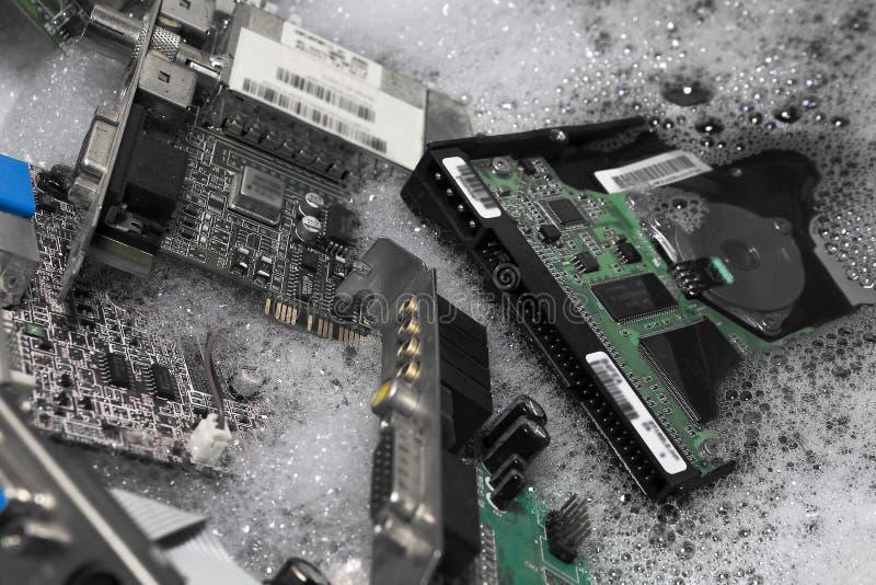 Держащ ваш компьютер очистите стоковая фотография rf