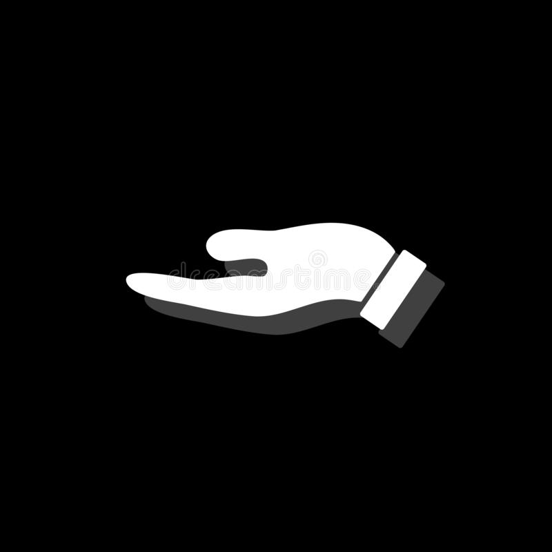 Держащ значок ладони плоско бесплатная иллюстрация