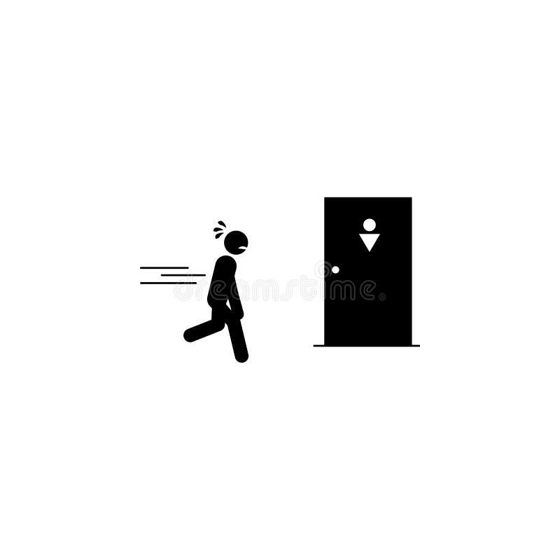 держащ, моча, значок простатита Элемент человеческого значка боли для передвижных apps концепции и сети Детальное удерживание, мо бесплатная иллюстрация