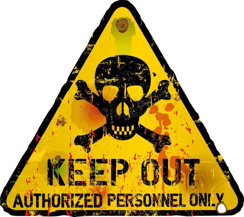 Держите вне знак, предупреждая бесплатная иллюстрация