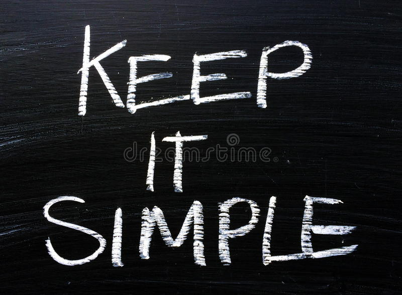 Держите его простое сообщение на классн классном стоковая фотография rf