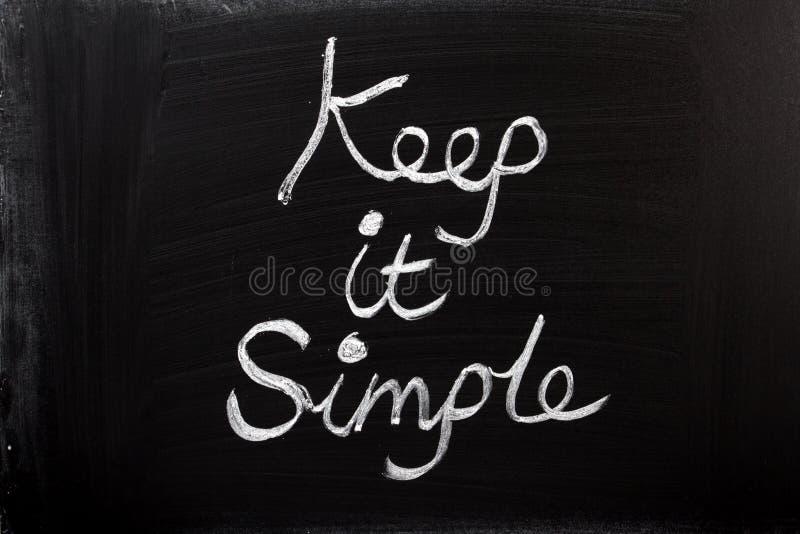 Держите его простой стоковое изображение