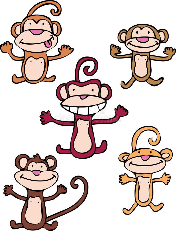 дерзкие обезьяны иллюстрация штока