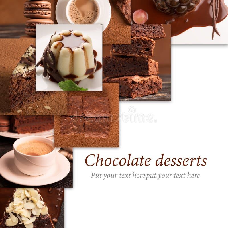 Десерты и помадки шоколада стоковое фото