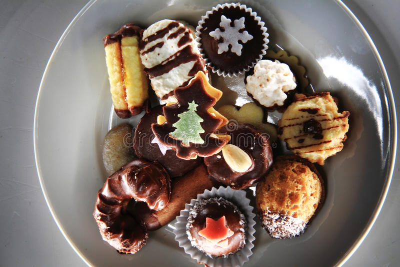 Десерты рождества стоковое фото rf