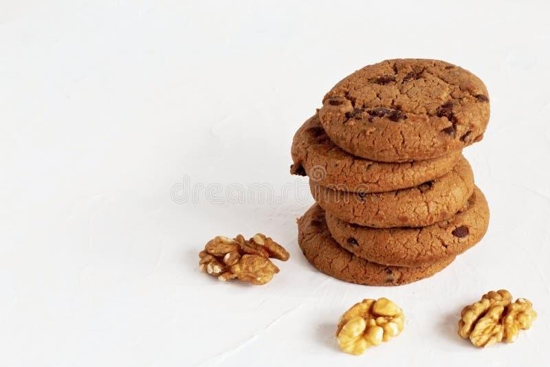 Десерт Печенья очень вкусного душистого shortbread домодельные согласно первоначальному рецепту с темными шоколадом и изюминками  стоковое фото rf