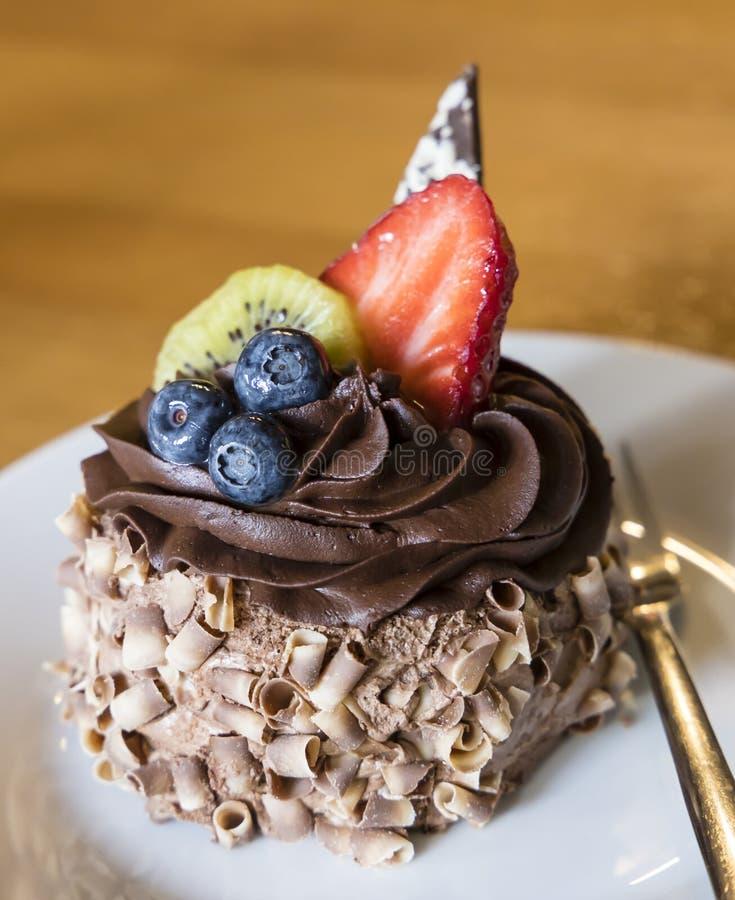 десерт плода шоколада стоковое фото rf