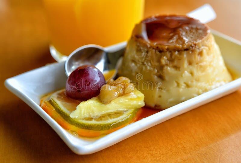 Десерт студня и плодоовощ стоковое изображение