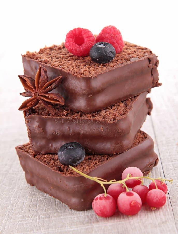 Десерт торта шоколада стоковое изображение