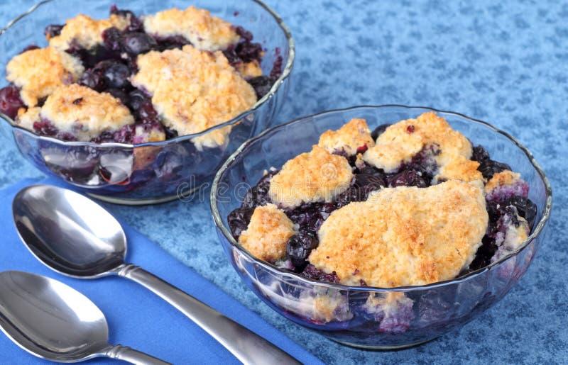 десерт cobbler голубики стоковое фото rf